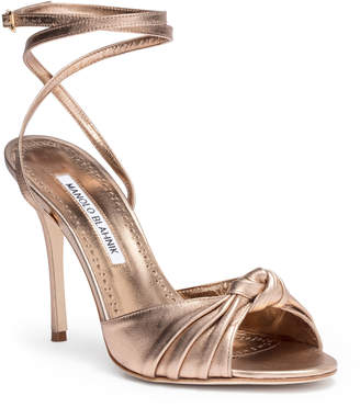 Manolo Blahnik Mumuye 105 nappa light bronze sandal