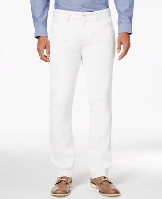 INC International Men's Haring White Slim Straight Jeans, Only at Macy's $49.98 thestylecure.com