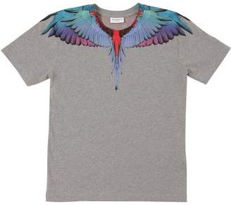 Marcelo Burlon County of Milan Wing Print Cotton Jersey T-Shirt