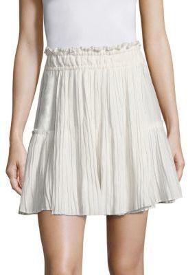 Apiece Apart Palomitas Pleated Mini Skirt $295 thestylecure.com