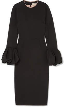 Roksanda Satin-trimmed Crepe Dress - Black