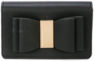 Christian Siriano bow clutch bag