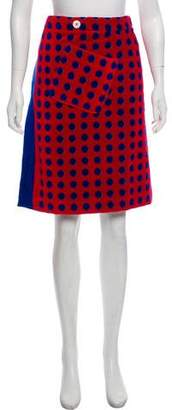 Miu Miu Polka-Dot Wrap Skirt