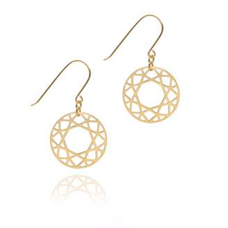 Myia Bonner Gold Brilliant Diamond Drop Earrings