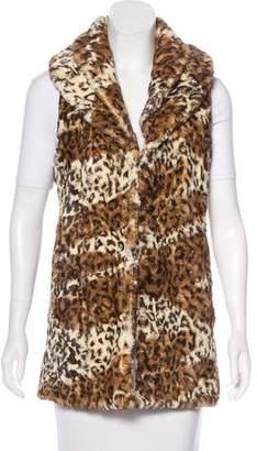 Alice + Olivia Faux Fur Longline Vest