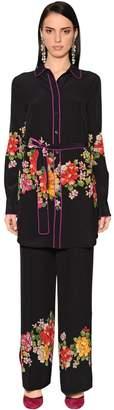 Etro Floral Printed Silk Crepe De Chine Tunic
