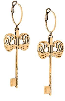 Alexander McQueen hoop key earrings