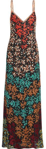Missoni - Embroidered Crochet-knit Maxi Dress - Black