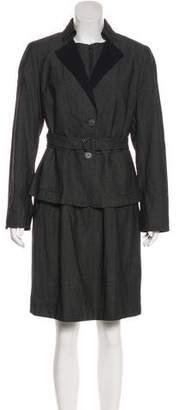 Akris Punto Wool Knee-Length Dress Set