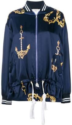 Natasha Zinko printed drawstring bomber jacket