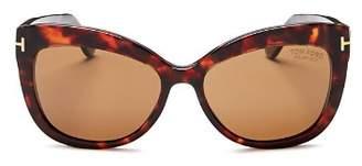 Tom Ford Women's Allistair Oversized Polarized Cat Eye Sunglasses, 56mm