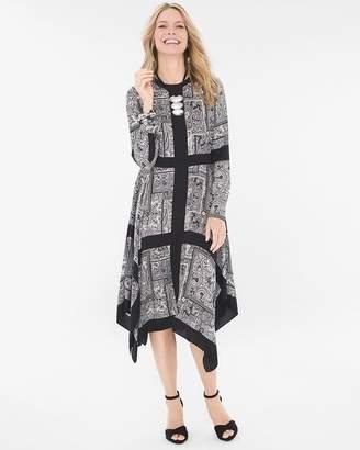 Bi-Color Scarf Maxi Dress