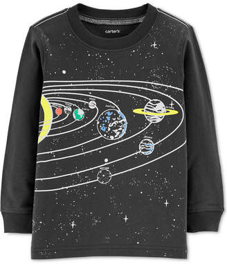 Carter's Baby Boys Solar System-Print Glow-In-The-Dark Cotton T-Shirt