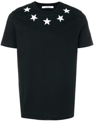Givenchy Cuban-fit star appliqué T-shirt