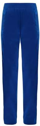 Givenchy Logo Print High Rise Jersey Trousers - Womens - Blue