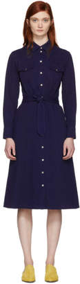 A.P.C. Indigo Annie Button Up Dress