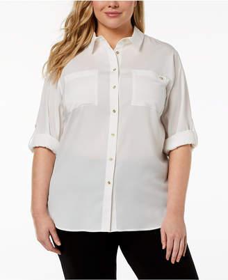 Calvin Klein Plus Size Classic Tunic Shirt