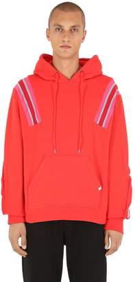 Facetasm Jersey Sweatshirt Hoodie W/ Knit Inserts