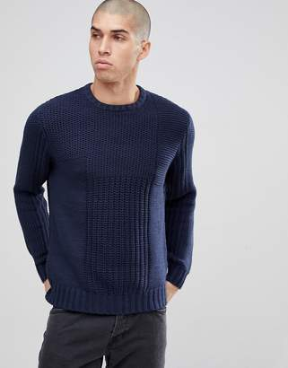 ONLY & SONS Knitted Jumper With Mix Panel Detail