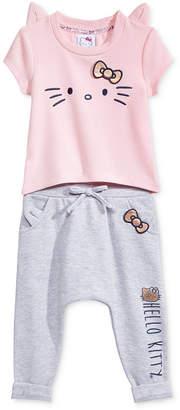 Hello Kitty 2-Pc. Ruffle Top & Leggings Set, Baby Girls