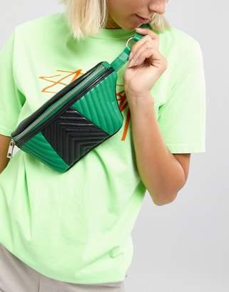 Asos Design DESIGN mix quilted bum bag