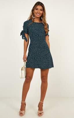 Showpo Too Cute For You Dress In green spot - 8 (S) Dresses