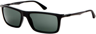 Ray-Ban RB4214 Black Rectangle Sunglasses