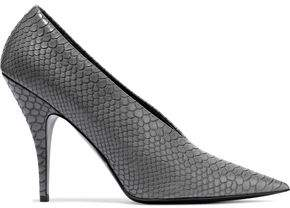 Stella McCartney Snake-effect Faux Leather Pumps