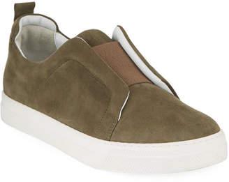Pierre Hardy Slider Suede Stretch Low-Top Sneakers