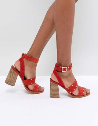 Asos DESIGN TESSIE Suede Studded Sandals