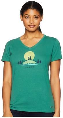 Life is Good Vista Hike Crusher Vee T-Shirt Women's T Shirt