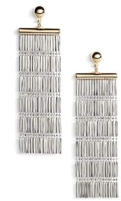 Argentovivo Two-Tone Linear Fringe Earrings