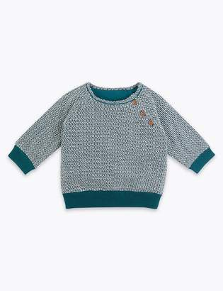 Marks and Spencer Patterned Knitted Jumper