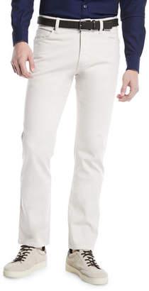 Ermenegildo Zegna Cotton Canvas Chino Pants, White