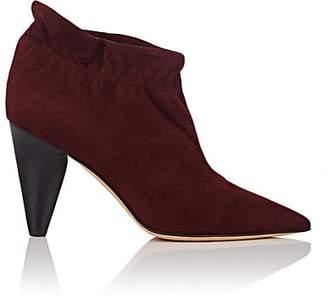 Derek Lam Women's Saskia Suede Ankle Boots - Burgundy