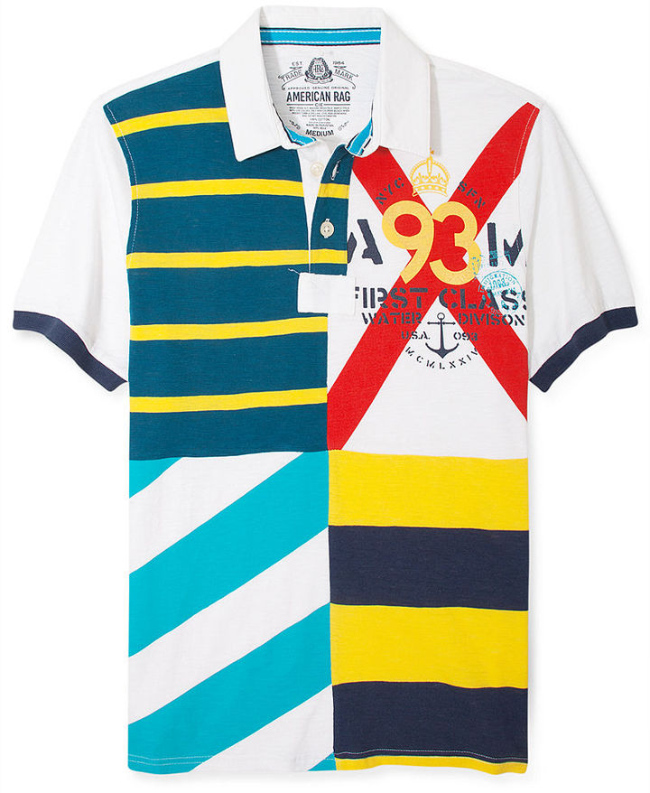 American Rag Shirt, Flag Polo Shirt