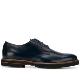 Tod's almond toe Derby shoes