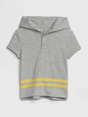 Gap Hoodie Henley Short Sleeve T-Shirt