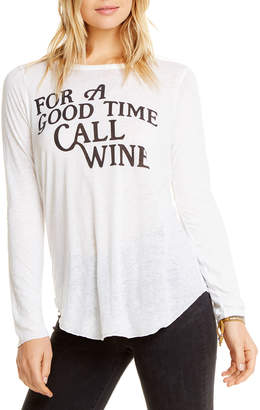 Chaser Wine Long-Sleeve Graphic Tee