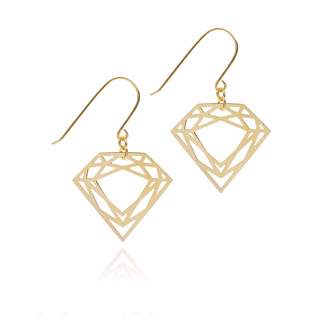 Myia Bonner Gold Classic Diamond Earrings