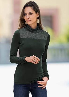 Together Lace Roll Neck Top