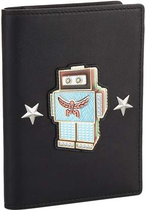 MCM Roboter Leather Passport Cover