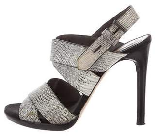Reed Krakoff Lizard Multistrap Sandals