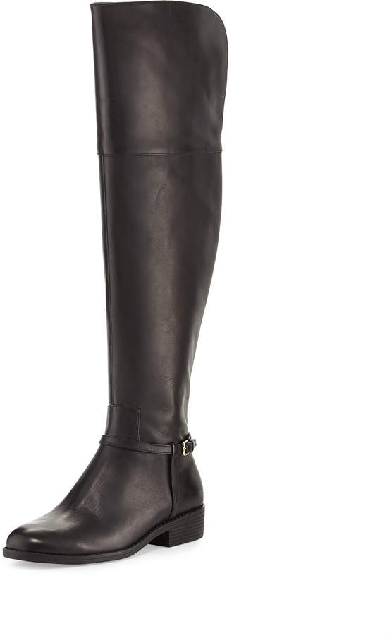 Cole Haan  Cole Haan Valentia Leather Over-the-Knee Boots, Black
