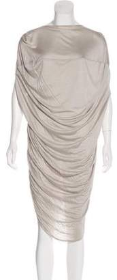 Zero Maria Cornejo Ruched Midi Dress