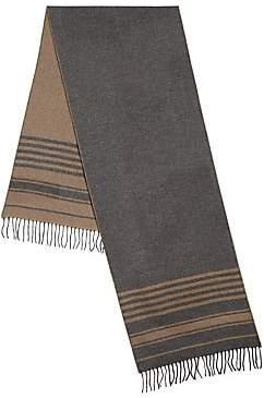 Brunello Cucinelli Men's Cashmere Stripe Scarf