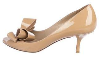 e29bece3b65 Valentino Patent Leather Bow Pumps