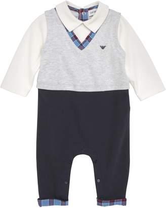 Armani Junior Polo Vest Romper