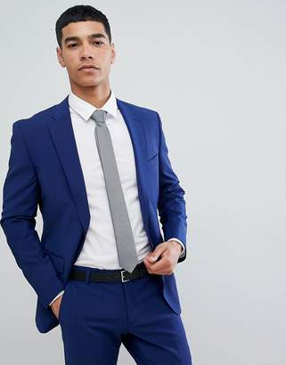 Esprit Slim Fit Suit Jacket In Royal Blue