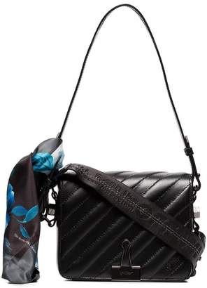 Off-White black Binder Clip scarf detail leather cross body bag